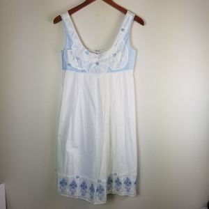 Anthropologie Tabitha Dress White and Blue…